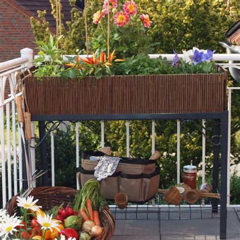 Hochbeete Für Balkon by Balkon Hochbeet Natur