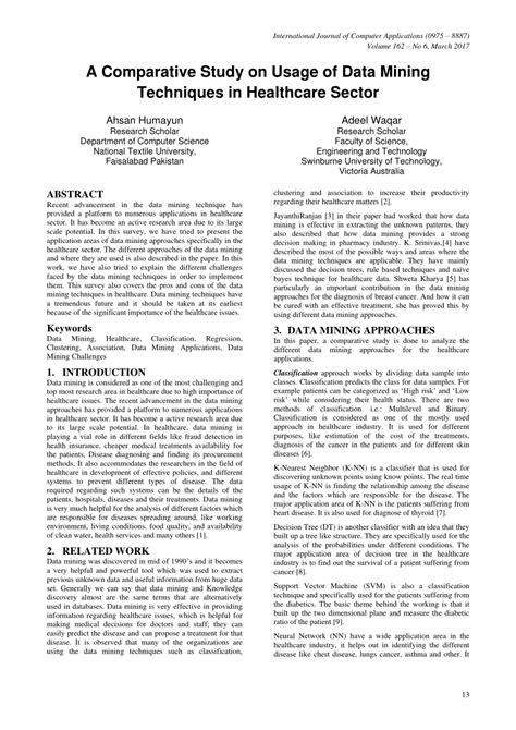 (PDF) A Comparative Study on Usage of Data Mining