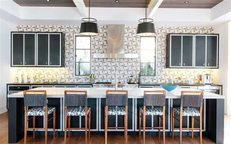 mid century modern transitional style home  open