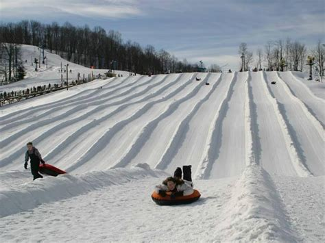 great places  sled  snow tube  west virginia