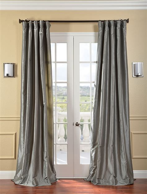 taffeta drapery panels platinum faux silk taffeta curtains drapes ebay