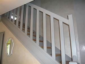Peinture Pour Escalier : peinture renovation escalier amazing rnovation des ~ Zukunftsfamilie.com Idées de Décoration