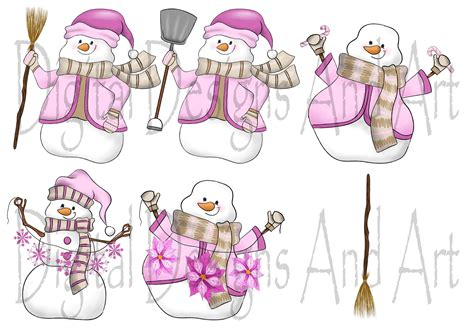pink snowman magnet wedding invitations pink business
