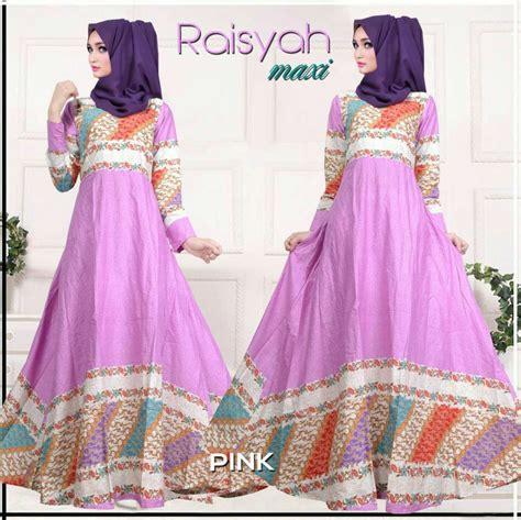 model gamis batik warna pink simak gambar berikut