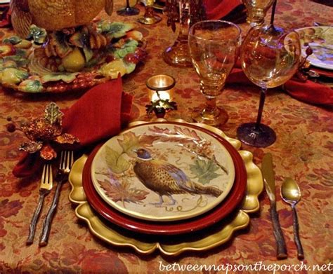 Pottery Barn Thanksgiving Plates thanksgiving tablescape with turkey centerpiece and