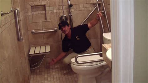 handicap bathroom remodeling youtube