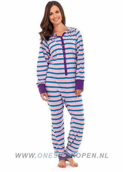 Onesie Pyjama Roze Katoenen Blauw Dames Onesieskopen