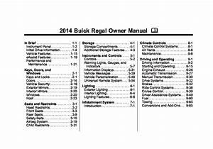 2014 Buick Regal Owners Manual