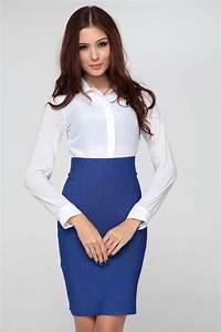 Starry Office Lady High Waist Skirt Blue   Casual Dress   Pinterest   High waist High waist ...