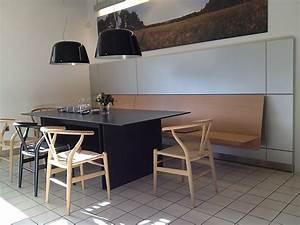 Sitzbank Mit Rückenlehne Küche : st hle sitzbank wandh ngend in eiche furniert naturgrau c3 sitzbank bulthaup m bel von k che ~ Markanthonyermac.com Haus und Dekorationen