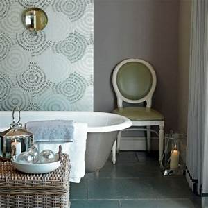 Papier Peint Pour Salle De Bain : le papier peint pour salle de bain la nouvelle tendance d co ~ Dailycaller-alerts.com Idées de Décoration