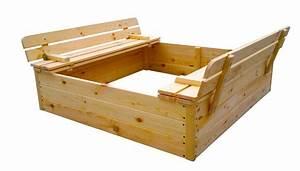 Bac à Sable Bois : bac sable en bois jimmy 118x118cm boutique jardinitis ~ Premium-room.com Idées de Décoration