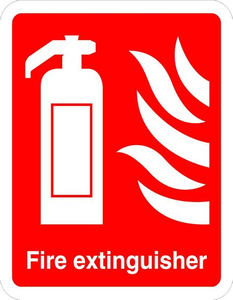 fire extinguisher fire osha ansi aluminum metal sign