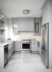 grey kitchen floor ideas gray shaker kitchen cabinets with engineered white quartz countertops transitional kitchen