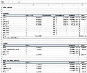 excel for startups simple financial models and dashboards With it service cost model template
