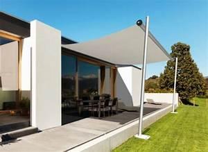 sonnensegel f r bungalow terrasse wei es sonnensegel With sonnensegel terrasse aufrollbar