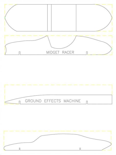 Pinewood Derby Design Template by Pinewood Derby Templates Template Business