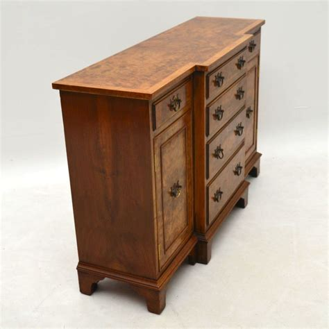 Breakfront Sideboard by Small Antique Burr Walnut Breakfront Sideboard