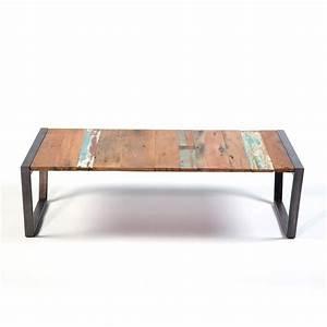 Table Bois Et Fer : table basse bois projets accueil design et mobilier ~ Teatrodelosmanantiales.com Idées de Décoration