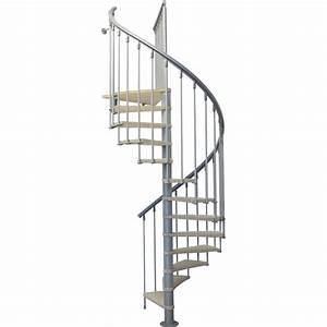 escalier colimacon rond nice structure metal marche bois With escalier exterieur metal leroy merlin 0 escalier colimacon rond ring structure metal marche bois