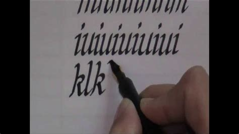 calligraphy   write calligraphy letters lesson
