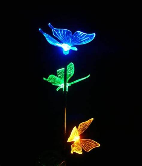 china solar butterfly colors led light china solar stick