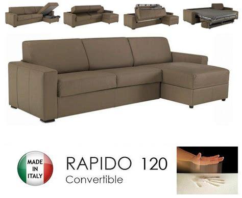 matelas pour canapé rapido canape d 39 angle dreamer rapido 120cm cuir eco taupe