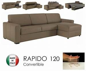 canape d39angle dreamer rapido 120cm cuir eco taupe With canape angle taupe cuir