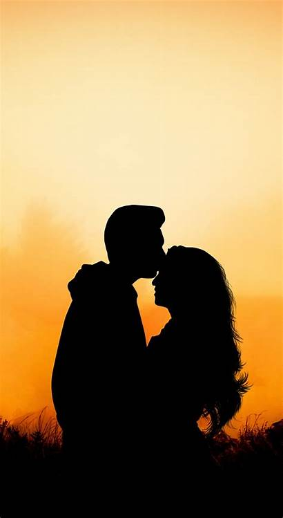 Hug Couple Kiss Sunset Outdoor Wallpapers Romantic