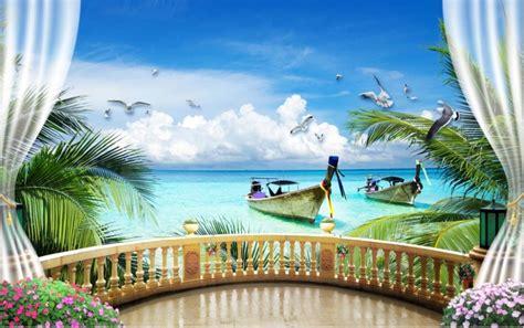3d Wallpaper Scenery by 3d Wallpapers Window Balcony Scenery Wallpaper 3d Living