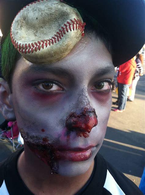 zombie baseball player halloween  makeup ideas makeup  audreyo beauty  audrey