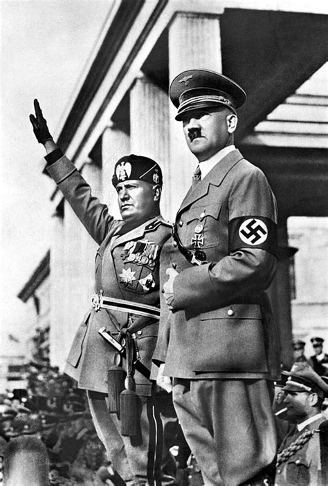 Mussolini And Hitler Together Photograph by Everett