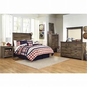 signature design by ashley trinell full bedroom group With home furniture wi rapids