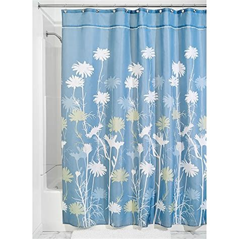 interdesign daizy shower curtain blue and 54 x 78