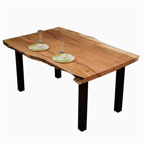 hand crafted gillespie reclaimed  edge maple dining