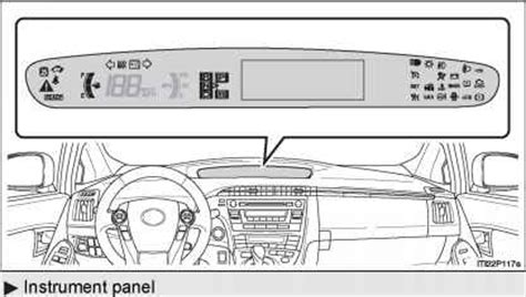 indicators and warning lights toyota prius 2010 manual