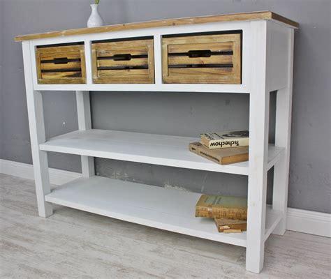 Konsole Aus Holz by Konsole Sideboard Wei 223 Braun Massiv Holz