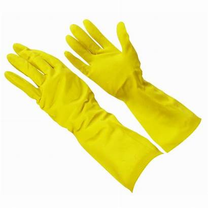 Gloves Yellow Rubber Household Lined Multi Latex