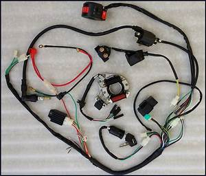 Full Electrics Wiring Harness Cdi Coil 110cc 125cc Atv