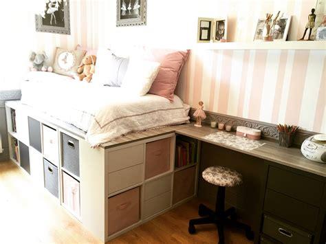 projet cuisine ikea diy un lit dressing gain de place avec des rangements de