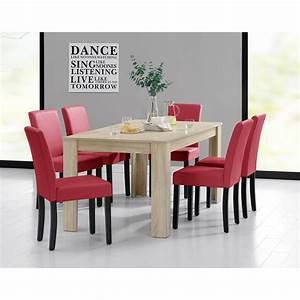 Tisch Und 6 Stühle : esstisch 160x90 eiche hell 6 st hle rot esszimmer tisch mit st hlen ebay ~ Bigdaddyawards.com Haus und Dekorationen