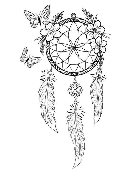 Pin by Coloring Pages for Adults on DreamCatcher Coloring Pages for Adults | Dream catcher
