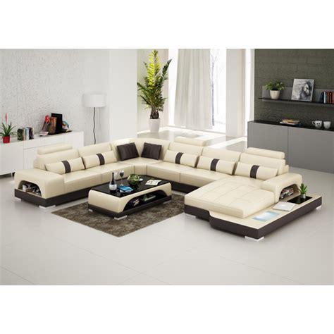 canapé d angle cuir beige canapé d 39 angle panoramique en cuir lyon avec éclairage