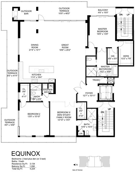 Equinox Deck Plan 2015 by Aqualuna Las Olas Luxury Waterfront Condos