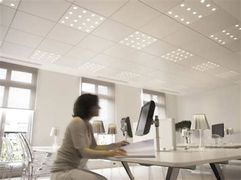office building lit with 100 led light metaefficient