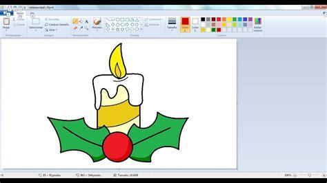 Dibujos para niños con Paint: Como dibujar una vela de