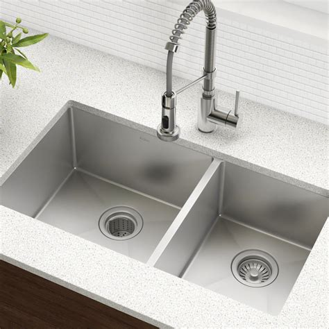kraus khu103 33 standart pro stainless steel kitchen sinks