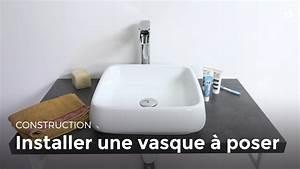 installer une vasque a poser bricolage youtube With salle de bain design avec bonde vasque
