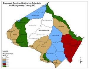 Montgomery County MD Zip Code Map