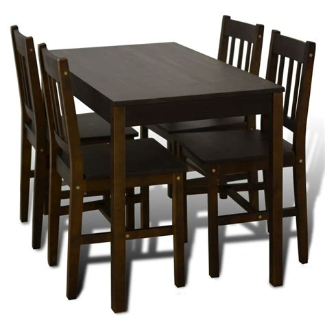 table cuisine 4 chaises vidaxl co uk wooden dining table with 4 chairs brown